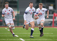 England's Jacob Morris in action during todays match<br /> <br /> Photographer Bob Bradford/CameraSport<br /> <br /> The 2018 U18 6 Nations Festival - Scotland U18 v England U18 - Saturday 31st March 2018 - CCB Centre for Sporting Excellence, Ystrad Mynach Hengoed <br /> <br /> World Copyright © 2018 CameraSport. All rights reserved. 43 Linden Ave. Countesthorpe. Leicester. England. LE8 5PG - Tel: +44 (0) 116 277 4147 - admin@camerasport.com - www.camerasport.com