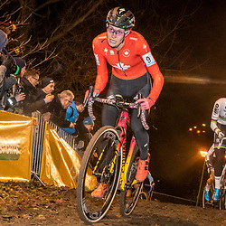2019-12-29: Cycling: Superprestige: Diegem : Canadian rider Maghalie Rochette pictured in the ight of Diegem
