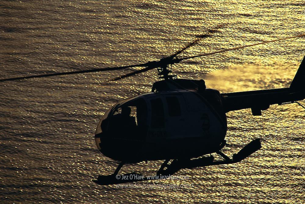 Gatari Air Service MBB NBO105 Bolkow helicopter, Bali, Indonesia.
