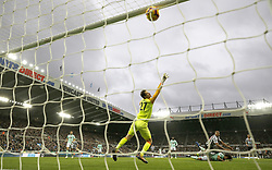 Newcastle United's Salomon Rondon scores his side's second goal of the game during the Premier League match at St James' Park, Newcastle.