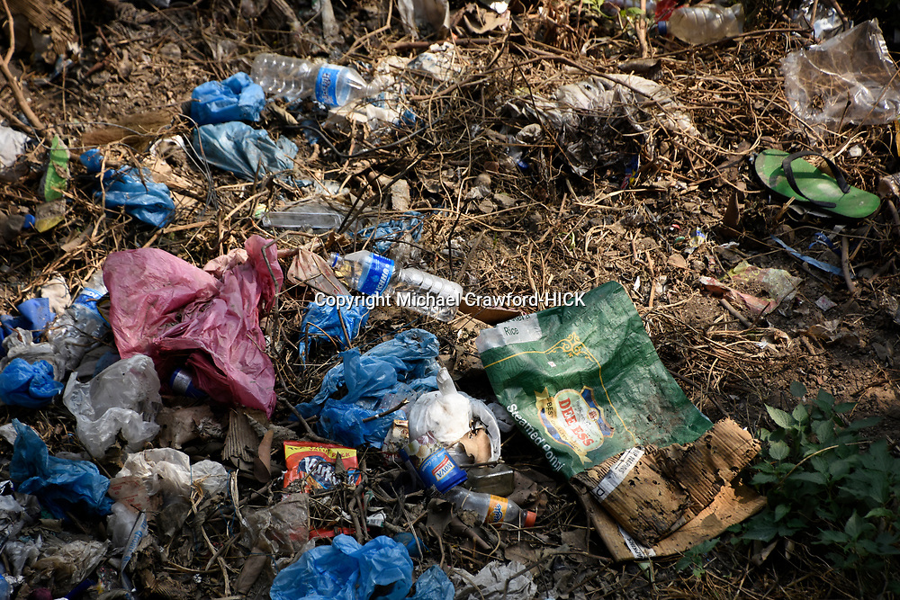 General plastic rubbish dicarded on the floor
