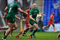 Shane Geraghty of London Irish passes the ball - Photo mandatory by-line: Patrick Khachfe/JMP - Mobile: 07966 386802 22/02/2015 - SPORT - RUGBY UNION - Reading - Madejski Stadium - London Irish v Leicester Tigers - Aviva Premiership