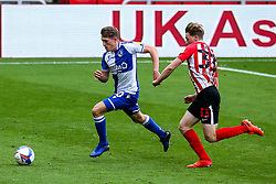 Cameron Hargreaves of Bristol Rovers takes on Denver Hume of Sunderland - Mandatory by-line: Robbie Stephenson/JMP - 12/09/2020 - FOOTBALL - Stadium of Light - Sunderland, England - Sunderland v Bristol Rovers - Sky Bet League One