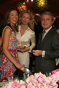 HEATHER KERZNER, JO AND RAFFI MANOUKIAN, Cartier Chelsea Flower Show dinner hosted by Arnaud Bamberger. Chelsea Physic Garden. London. 21 May 2007.  -DO NOT ARCHIVE-© Copyright Photograph by Dafydd Jones. 248 Clapham Rd. London SW9 0PZ. Tel 0207 820 0771. www.dafjones.com.