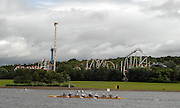 Motherwell, SCOTLAND. GV's, mid course, at the  2007 FISA U23 [Senior B] World Championship Regatta, Strathclyde Country Park.  25/07/2007 [Mandatory credit Peter Spurrier/ Intersport Images].