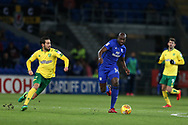 Sol Bamba of Cardiff city © makes a break. EFL Skybet championship match, Cardiff city v Norwich city at the Cardiff city stadium in Cardiff, South Wales on Friday 1st December 2017.<br /> pic by Andrew Orchard, Andrew Orchard sports photography.