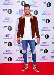 Chris Hughes attending BBC Radio 1's Teen Awards, at the SSE Arena, Wembley, London.