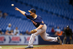 August 29, 2017 - St. Petersburg, Florida, U.S. - WILL VRAGOVIC   |   Times.Houston Astros third baseman J.D. Davis (28) pitching in the ninth inning of the game between the Texas Rangers and the Houston Astros at Tropicana Field in St. Petersburg, Fla. on Tuesday, Aug. 29, 2017. (Credit Image: © Will Vragovic/Tampa Bay Times via ZUMA Wire)