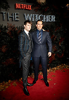 Joey Batey and Henry Cavill at THE WORLD PREMIERE OFTHE WITCHER at Vue Leicester Square London,  UK - 16 Dec 2019 photo by  Brian Jordan