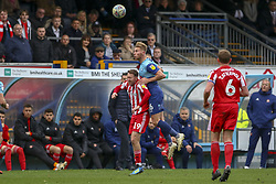 March 9, 2019 - High Wycombe, Buckinghamshire, United Kingdom - Wycombes Jason McCarthy heads clear during the Sky Bet League 1 match between Wycombe Wanderers and Sunderland at Adams Park, High Wycombe, England  on Saturday 9th March 2019. (Credit Image: © Mi News/NurPhoto via ZUMA Press)