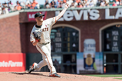 June 3, 2018 - San Francisco, CA, U.S. - SAN FRANCISCO, CA - JUNE 03: San Francisco Giants Pitcher Will Smith (13) pitches in relief during the MLB game between the Philadelphia Phillies and San Francisco Giants on June 3, 2018, at AT&T Park in San Francisco, CA. (Photo by Bob Kupbens/Icon Sportswire) (Credit Image: © Bob Kupbens/Icon SMI via ZUMA Press)