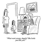 """""""What went wrong, Angela? She looks just like you!"""""""