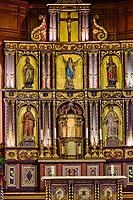 France, Pyrénées-Atlantiques (64), la côte du Pays-Basque, Bidart, l'église Notre-Dame-de-l'Assomption, le choeur et les galeries en bois // France, Pyrénées-Atlantiques (64), the coast of the Basque Country, Bidart, the Notre-Dame-de-l'Assomption church, the choir and the wooden galleries
