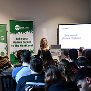 Speaker Louis 0'Connor, Executive Producer - Rare at ukie students at London Games Festival 2019: HUB at Somerset House at Strand, London, UK. on 2nd April 2019.