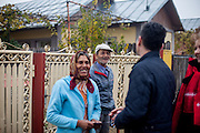 The last door to door meeting with Roma community members of Marginenii de Jos before the final round of the presidential elections two days later in Romania. The campaigners supported Victor Ponta who lost the presidential elections in the end.
