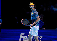 Tennis - 2019 Nitto ATP Finals at The O2 - Day Seven<br /> <br /> Semi Finals: Dominic Thiem (Austria) Vs. Alexander Zverev (Germany)<br /> <br /> Alexander Zverev (Germany) tries to rally himself as his performance struggles <br /> <br /> COLORSPORT/DANIEL BEARHAM<br /> <br /> COLORSPORT/DANIEL BEARHAM
