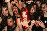 Israel, the crowd and audience at a heavy metal rock performance