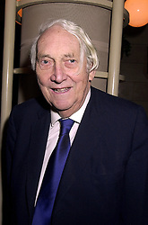 SIR NICHOLAS HENDERSON at a party in London on 1st November 2000.OIR 35