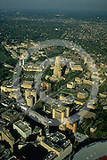 University of Pittsburgh, Aerial, Cathedral of Learning, Carnegie Institute, Carnegie Art, Oakland, PA