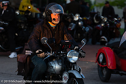 Paul Warrenfelt riding his 1935 Triumph 250cc Single during the Cross Country Chase motorcycle endurance run from Sault Sainte Marie, MI to Key West, FL (for vintage bikes from 1930-1948). Stage 2 from Ludington, MI to Milwaukee, WI, USA. Saturday, September 7, 2019. Photography ©2019 Michael Lichter.