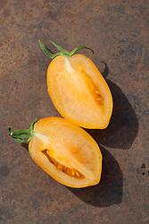 Tomato 'Orange Banana'. Heirloom tomato