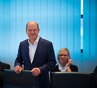 DEU, Deutschland, Germany, Berlin, 29.10.2018: Sitzung des SPD-Präsidiums im Willy-Brandt-Haus mit SPD-Vize Olaf Scholz.