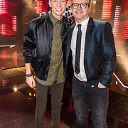 NLD/Hilversum//20170218 - Finale The Voice of Holland 2017, Thijs Pot en coach Guus Meeuwis