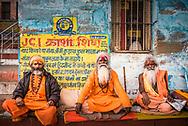 Sadhu, Indian Holy Men in Varanasi, Uttar Pradesh, India