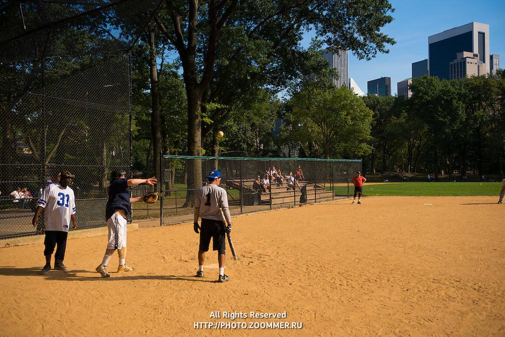 Baseball game in Central park, New York