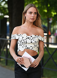 Kimberley Garner is seen out in Paris looking very Parian Chic at Haute Couture fashion week, Kimberley was seen at the Hôtel de Crillon, then attending the Cygnus Quartus fashion presentation at the Westin Paris hotel. 02 Jul 2018 Pictured: Kimberley Garner. Photo credit: Neil Warner/MEGA TheMegaAgency.com +1 888 505 6342