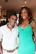 7 July 2010- New York, NY- Venus Williams and Marcus Samuellesson at video taping of ' Come to Win ' with Tennis Icon Venus Williams at held at a undisclosed location as she begins her promotion of her new book ' Come to Win ' published by HarperCollins on July 7, 2010 in New York City.