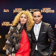 NLD/Amsterdam/20161219 - Filmpremiere Onze Jongens, Brahim Fouradi en partner