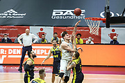 Basketball: Deutschland, 1. Bundesliga, Hamburg Towers -  EWE Baskets Oldenburg, Hamburg, 14.04.2021<br /> Maik Kotsar (Towers, m.)<br /> © Torsten Helmke