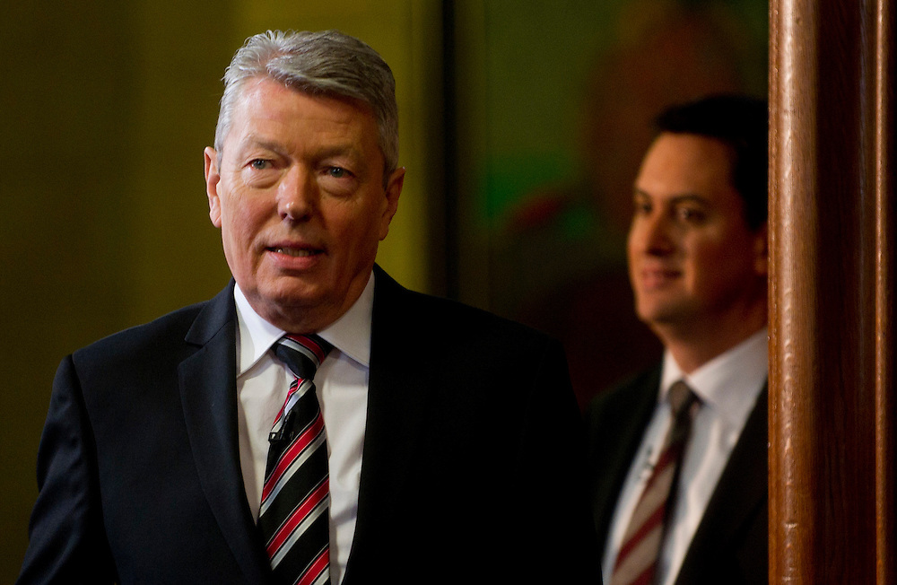 Alan Johnson attends a press conference, alongside Ed Miliband MP, Leader of the Labour Party, on Monday 10 January, in London. BOGDAN MARAN  / BIG PICTURES