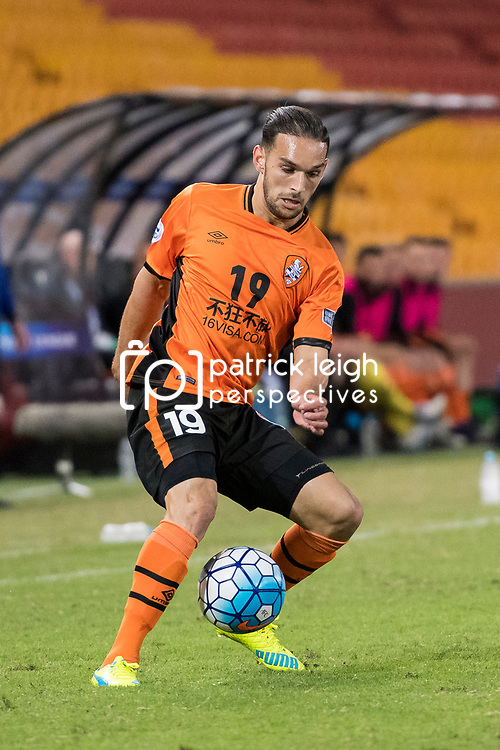 BRISBANE, AUSTRALIA - APRIL 12: Jack Hingert of the Roar controls the ball during the Asian Champions League Group Stage match between the Brisbane Roar and Kashima Antlers at Suncorp Stadium on April 12, 2017 in Brisbane, Australia. (Photo by Patrick Kearney/Brisbane Roar)