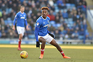 Portsmouth Forward, Jamal Lowe (18) during the EFL Sky Bet League 1 match between Portsmouth and Blackpool at Fratton Park, Portsmouth, England on 24 February 2018. Picture by Adam Rivers.