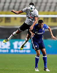 ZHUHAI, July 19, 2017 Franco Di Santo of FC Schalke 04 vies with Dusko Tosic of Besiktas JK during a pre-season soccer match between Bundesliga's FC Schalke 04 and Turkish Super League champion Besiktas JK at Zhuhai Sports Center Stadium in Zhuhai, south China's Guangdong Province, July 19, 2017. FC Schalke 04 won 3-2. (Credit Image: © Wang Lili/Xinhua via ZUMA Wire)