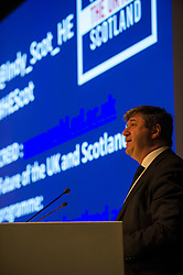 UK Scottish Secretary, Alistair Carmichael gave a speech on education at the ESRC's Future of the UK and Scotland seminar. The seminar considered the implications for higher education in the event of further devolution or independence. <br /> 29 January 2014 (c) GER HARLEY   StockPix.eu