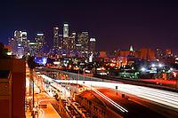 LA Skyline from Harbor Freeway