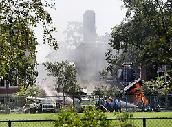 August 2, 2017 - Minneapolis, Minnesota, US - A large section of Minnehaha Academy is seen destroyed following the explosion Wednesday, in Minneapolis, Minn. (Credit Image: © David Joles/TNS via ZUMA Wire)
