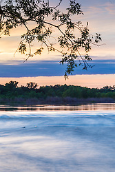 Trintiy River overbanking at Joppa Preserve, Great Trinity Forest, Dallas, Texas, USA