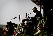 Former Governor of Utah and U.S. Ambassador to China Jon Huntsman, Jr. gives the commencement address to the Class of 2014 during the University of Wisconsin-Madison commencement ceremony at Camp Randall Stadium, Saturday, May 17, 2014.