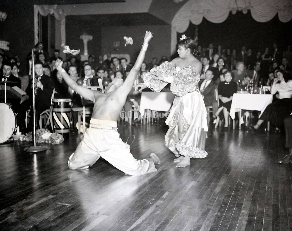 performance at a factory workers party USA 1940s