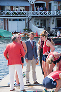 Henley-on-Thames. United Kingdom.  2017 Henley Royal Regatta, Henley Reach, River Thames. <br /> Women's Four. Hollandia Roeiclub. Bow Elsbeth Beeres 2. Karolien Florijn, 3. Ymke Clevering and  str.Veronique Meester<br /> <br /> 15:34:21  Sunday  02/07/2017<br /> <br /> [Mandatory Credit. Intersport Images}.