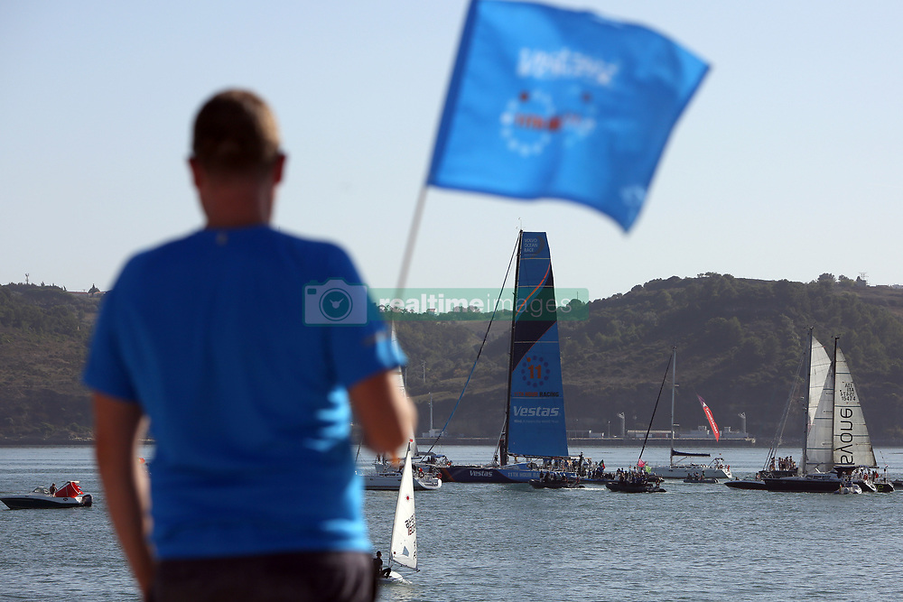 October 28, 2017 - Lisbon, Portugal - Vestas 11th Hour Racing boat wins Leg 1 from Alicante to Lisbon during the Volvo Ocean Race 2017-2018, in Lisbon, Portugal on October 28, 2017. (Credit Image: © Pedro Fiuza/NurPhoto via ZUMA Press)