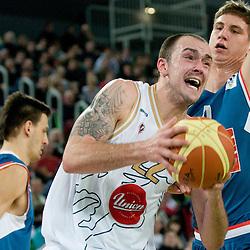 20110115: SLO, Basketball - NLB League, KK Union Olimpija vs Cibona