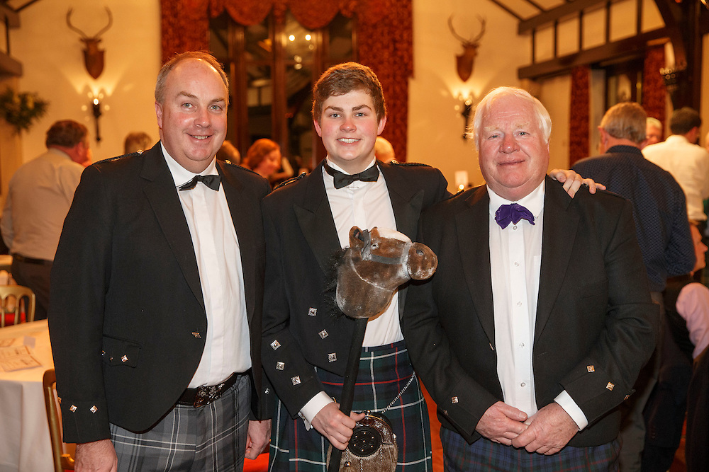 Burns Supper event in at the Brig o'Doon Hotel in Alloway.  L to R :  Alan Hill, Cameron Hill and Robert Hill. Picture Robert Perry  24th Jan 2016<br /> <br /> Must credit photo to Robert Perry<br /> FEE PAYABLE FOR REPRO USE<br /> FEE PAYABLE FOR ALL INTERNET USE<br /> www.robertperry.co.uk<br /> NB -This image is not to be distributed without the prior consent of the copyright holder.<br /> in using this image you agree to abide by terms and conditions as stated in this caption.<br /> All monies payable to Robert Perry<br /> <br /> (PLEASE DO NOT REMOVE THIS CAPTION)<br /> This image is intended for Editorial use (e.g. news). Any commercial or promotional use requires additional clearance. <br /> Copyright 2014 All rights protected.<br /> first use only<br /> contact details<br /> Robert Perry     <br /> 07702 631 477<br /> robertperryphotos@gmail.com<br /> no internet usage without prior consent.         <br /> Robert Perry reserves the right to pursue unauthorised use of this image . If you violate my intellectual property you may be liable for  damages, loss of income, and profits you derive from the use of this image.