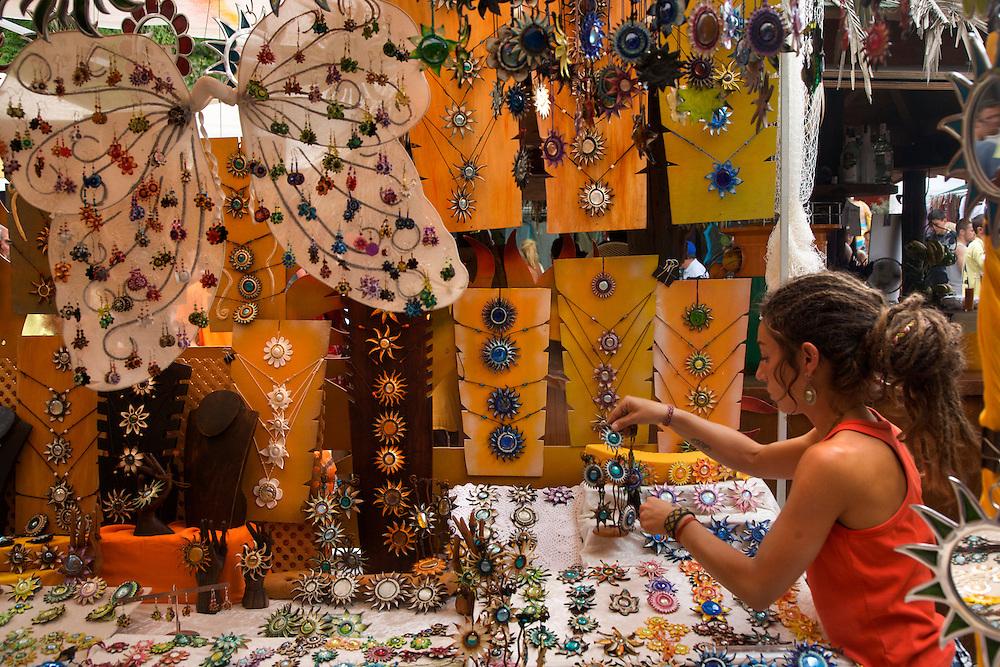 Las Dalias flea market at Sant Carles. Ibiza. Spain