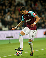 Jose Fonte of West Ham United in action. Premier league match, West Ham Utd v Huddersfield Town at the London Stadium, Queen Elizabeth Olympic Park in London on Monday 11th September 2017.<br /> pic by Kieran Clarke, Andrew Orchard sports photography.