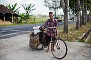 Portrait of a local man near Merapi mountain, Yogjakarta